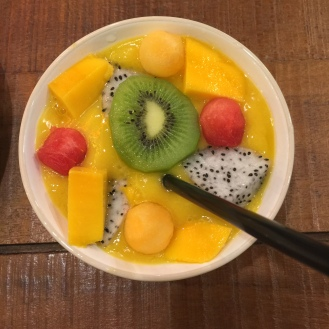 Delicious desert at Mango Tango